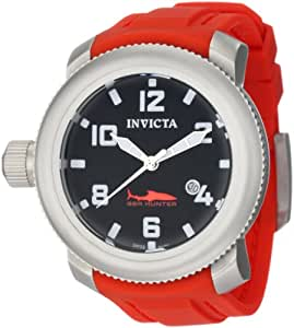 Invicta Men's 1691 Sea Hunter Black Dial Red Rubber Watch
