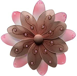 Hanging flower 6 small brown pink two tone for Decorate with flowers amazon