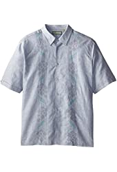 Havanera Men's Big-Tall Short Sleeve Printed and Stitched Panel Shirt