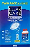 Alcon Clear Care with Lens Case, Twin pack,12 Ounce Each