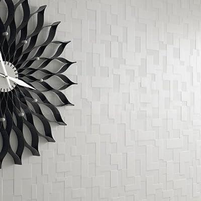 3D Block' White Brick Effect Wallpaper from wallpaper heaven