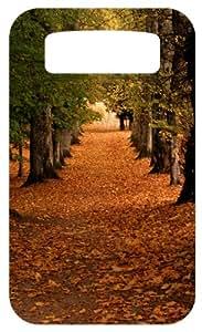 Fallen Autumn Leaves White Back Cover Case for Blackberry Bold 9700