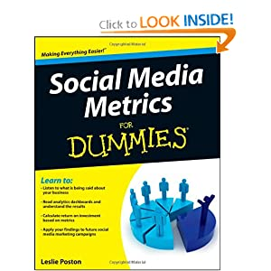 Leslie Poston is the author of Social Media Metrics for Dummies.