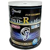 Good-J 地上デジタル放送録画用 DVD-R 1-16倍速 100枚スピンドル 4.7GB CPRM対応 For Data & Video ホワイトプリンタブル(ワイド対応) GC16X100PW