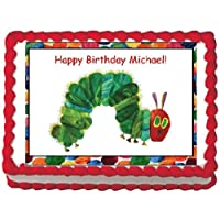 CATERPILLAR Edible Image Birthday Cake Topper-Personalized!
