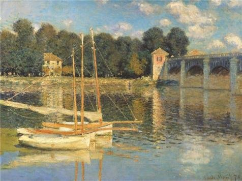 'The Bridge At Argenteuil,1874 By Claude Monet' Oil Painting, 16x21 Inch / 41x54 Cm ,printed On Perfect Effect Canvas ,this Beautiful Art Decorative Prints On Canvas Is Perfectly Suitalbe For Home Theater Decoration And Home Decor And Gifts