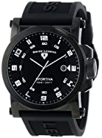 Swiss Legend Men's 40030-BB-01-SA Sportiva Black Textured Dial Black Silicone Watch by Swiss Legend