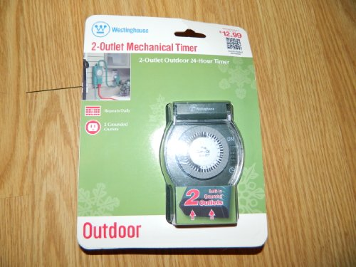 Westinghouse 2 Outlet Outdoor 24 hour Mechanical Timer (Westinghouse Light Timer compare prices)