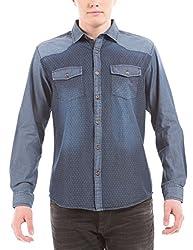 Shuffle Men's Casual Shirt (8907423012974_2021535301_Medium_Indigo)