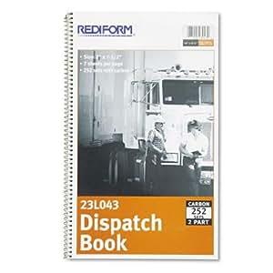"REDIFORM Driver's Log, Carbonless Duplicate, 7.5 x 2"" 252 Sets per Book (23L043)"