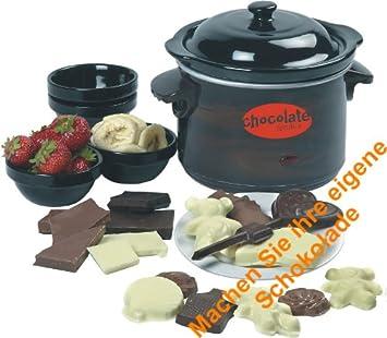 elektrisches schokoladen fondue schokotopf mit deckel formen umfangreisches schoko fondue set. Black Bedroom Furniture Sets. Home Design Ideas