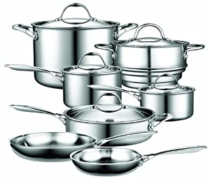 Best Cookware Set - Cooks Standard NC-00232 12-Piece Multi-Ply Clad Stainless-Steel Cookware Set Review