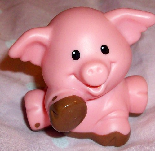 Buy Low Price Mattel Fisher Price Little People-muddy Farm Pig Replacement Doll Figure Toy (B00221W9OU)