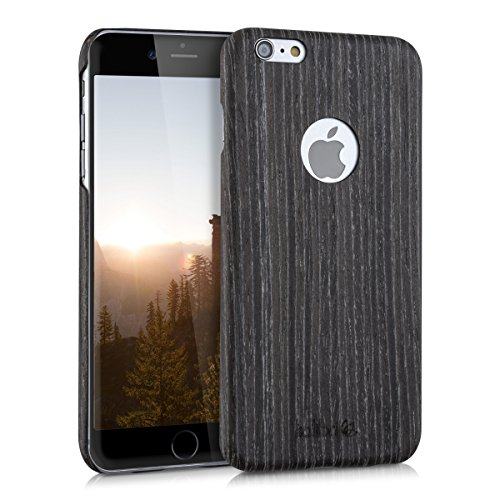 kalibri-Holz-Case-Hlle-fr-Apple-iPhone-6-Plus-6S-Plus-Handy-Cover-Schutzhlle-aus-Echt-Holz-und-Kunststoff-aus-Gingkoholz-in-Anthrazit
