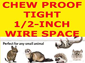 2 Color, New Large and Tall Double Stackable Wrought Iron Ferret Chinchilla Sugar Glider Small Animal Cage with Metal Tray and Removable Stand (Black Vein) (Color: Black Vein, Tamaño: 30 X 18 X 74H)