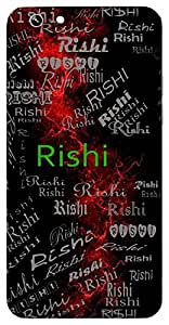 Rishi (Sage, Ray Of Light,A Sage) Name & Sign Printed All over customize & Personalized!! Protective back cover for your Smart Phone : Moto E-2 ( 2nd Gen )