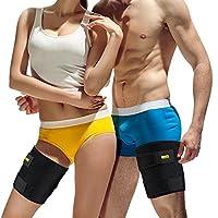 太ももサポーター 筋肉ケガ防止 高弾力 速乾性 通気性 保温 マジックテープ付け 調整可能 太股サポーター 男女兼用