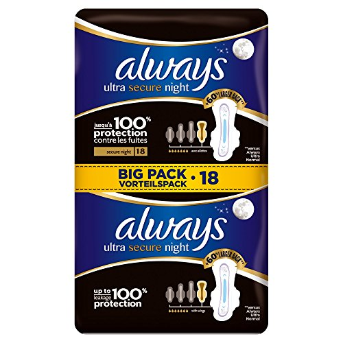 always-ultra-secure-night-serviettes-hygieniques-avec-ailettes-18x-lot-de-2