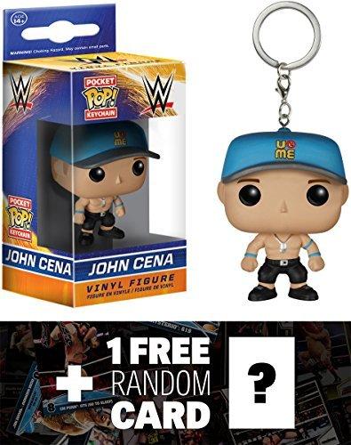 John Cena: Pocket POP! x WWE Mini-Figure Keychain + 1 FREE Official WWE Trading Card Bundle [65041]