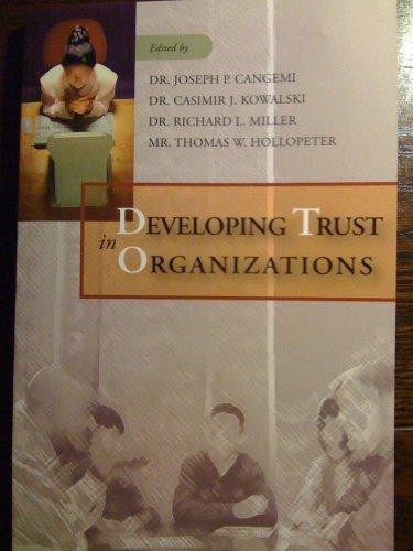 Developing Trust in Organizations