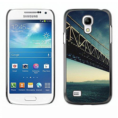 Qcase Slim Pc / Aluminium Sleek Case Cover Armor Shell -- Architecture San Francisco Bridge -- Samsung Galaxy S4 Mini