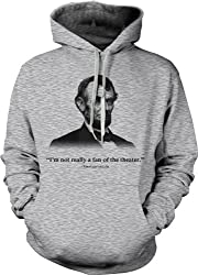 Abraham Lincoln Hoodie Not a Fan of the Theater Funny History Sweatshirt from Crazy Dog Tshirts