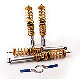 maXpeedingrods Coilovers Susppension Struts Kit for VW Volkswagen Golf MK2 MK3 MK4 Vento Corrado Shock Aborber(Gold)