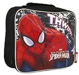 New Boys/Childrens Black Spiderman Zip Around Lunch Bag. - Black - UK SIZES 1-1