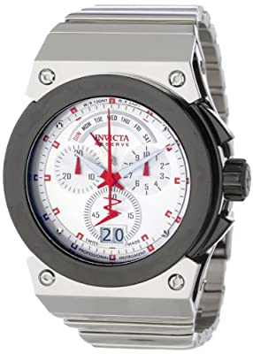 Invicta Men's 11931 Akula Reserve Chronograph Silver Dial Stainless Steel Watch