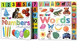 DK Publishing My First Numbers and Words (2 Board Books)