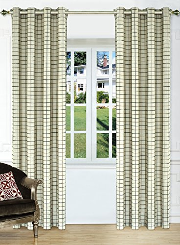 Ifblue Window Treatments Thermal Insulated Plaid Eyelet Curtain (52