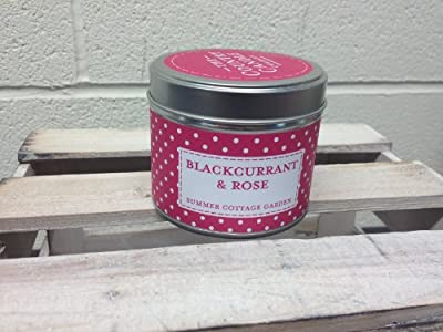 Scented Blackcurrant And Rose Candle In A Tin By The Country Candle Company by The Country Candle Company