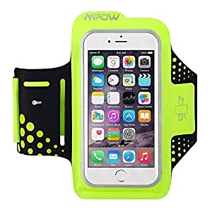 iPhone 6/6S Armband, [2016 Newest Version] Mpow Running Sweatproof Sport Armband Case Cover Holder with Extra Adjustable-Length Extention Band & Key Slots Holder Pocket for Sports, Gym, Running, Jogging, Walking, Biking, Hiking, Workout and Exercise