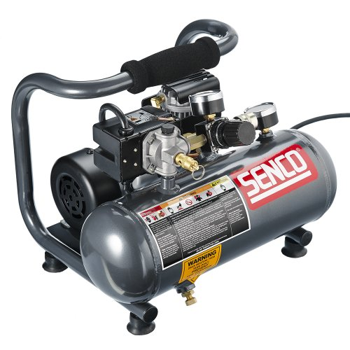 Senco PC1010 1-Horsepower Peak, 1/2 hp running 1-Gallon Compressor