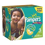 Pampers Baby Dry Diapers Economy Pack Plus, Size 3, 222 Count