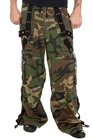Tripp Camo Chain Zip-Off Pants Size : X-Large