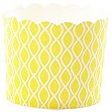 Simply Baked Paper Baking Cup, Large, Yellow Wave, 20-Pack