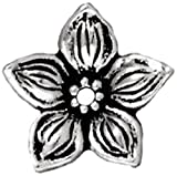 TierraCast Beadcap Jasmine, 11mm, Antique Silver