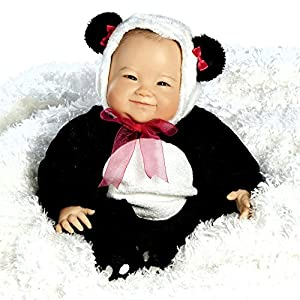 Paradise Galleries Su-Lin, Amazingly Realistic 51cm Asian Baby Doll in Chinese Panda Outfit