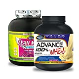 Lean Mass Gainer 3KG Chocolate& ADVANCE 100% WHEY 25gm Protein Per 33gm 1kg Vanilla (Combo Offer)