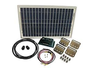 30 Watt Solar Battery Charging System Kit