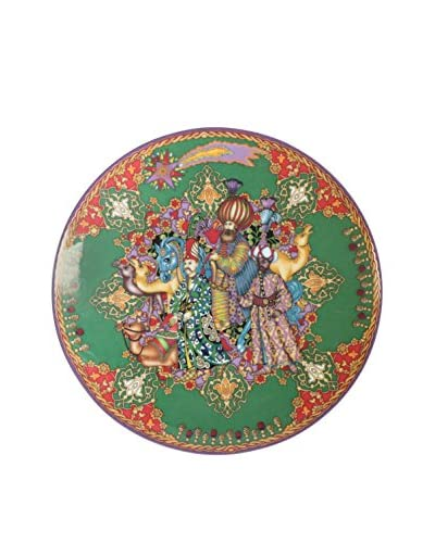 Versace Christmas 2009 Plate, Green/Red