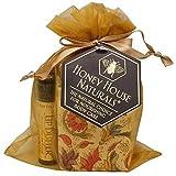 Honey House Naturals 3 Piece Gift Set: Soap, Lotion & Lip Moisturizers, Natural