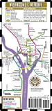 Streetwise Washington DC Metro Map - Laminated Washington DC Metrorail Map - Folding pocket & wallet size metro map for travel