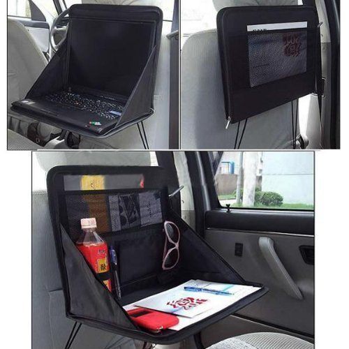 Aketek Travel Car Laptop Holder Tray Bag Mount Back Seat Auto Food Work Table Organizer (Laptop Car Stand compare prices)