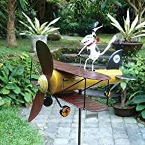 Spike Dog Aviator Whirligig Sculpture