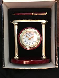 """Paul Sebastian """"Timely Classics"""" Clock and Pen"""