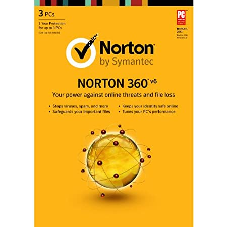 Norton 360 6.0 - 1 User / 3 PC [Old Version]