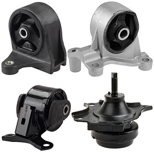 Maxmount 4pcs A4511 A6588 A6589 A6591 Transmission Engine Motor Mounts Replacement Kit For 01-05 Honda Civic/Acura EL 1.7L w/Manual (Trolling Motor Mount Bolts compare prices)