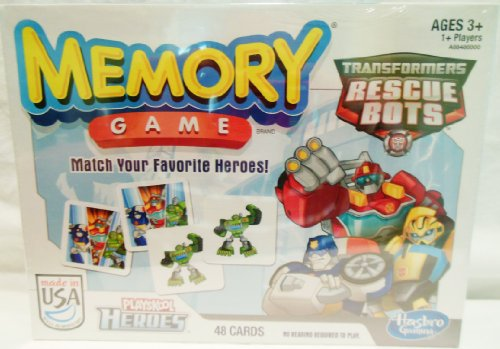 Transformers Rescue Bots Memory Game-Learning-Educational-Memory Game-Playskool Heroes-For Ages 3 and Up